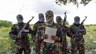 Photo of Al-Shabab militants torch shops, homes in Kenyan border region