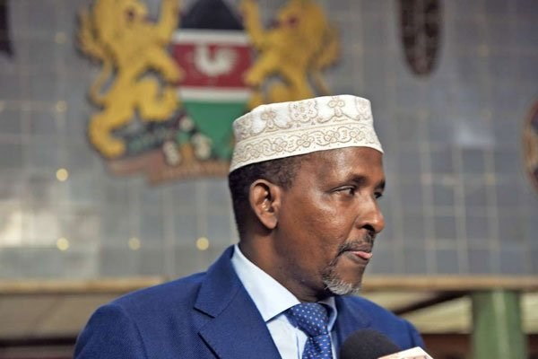 Photo of Duale on the spot for distributing expired food