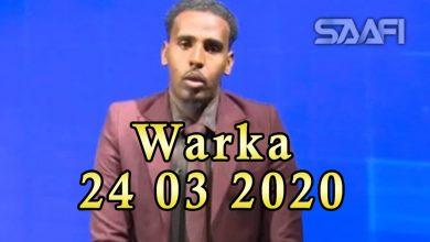 Photo of WARKA 24 03 2020 Dowlada Soomaaliya oo gubtay Khaat si sharci daro ah lagu soo gelin lahaa magaalada Muqdisho
