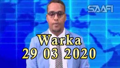 Photo of WARKA 29 03 2020 Qarax khasaaro qeystay oo ka dhacay magaalada Garoowe ee Puntland