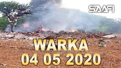 Photo of WARKA 04 05 2020 Diyaarad gargaar siday oo lagu soo riday gobolka Baay