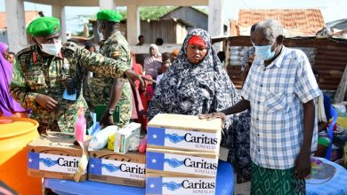 Photo of AMISOM supports IDPs with Personal Protective Equipment against Coronavirus