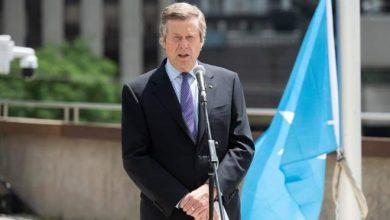 Photo of Toronto Mayor raises Somali flag at City Hall to commemorate Somali independence.