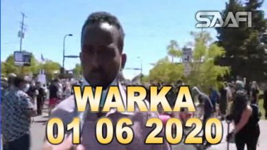 Photo of WARKA 01 06 2020 Soomaalida ku nool Mareykanka oo ka qeyb qaadaneysa ololaha nadaafada ay sababeen Mudaaharaadayaasha