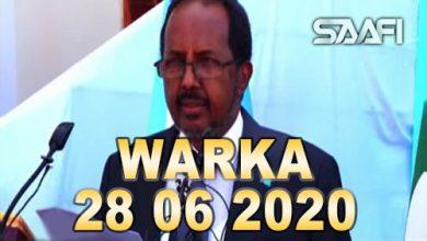 Photo of WARKA 28 06 2020 Madaxweynihii hore Xasan Sh Maxamuud oo sheegay in gudiga doorashooyinka ay faraha kula jiraan wax aan shaqadooda aheyn