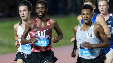Photo of Ahmed should have been racing in Tokyo now, but is still running fast times