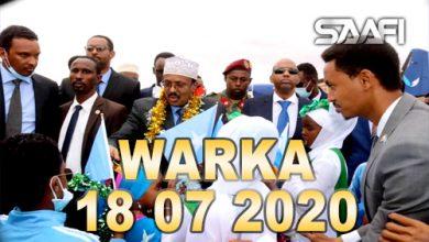 Photo of WARKA 18 07 2020 Madaxweyne Farmaajo iyo wefdi uu hogaaminayo oo Dhuusomareeb lagu soo dhaweeyey