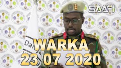 Photo of WARKA 23 07 2020 Maxkamada ciidamada qalabka sida oo xukuno ku riday rag Shabaab ka tirsanaa