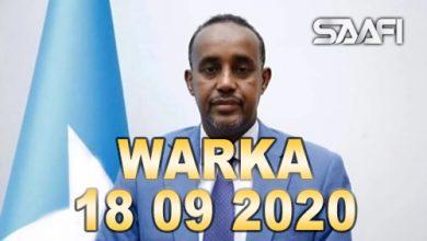 Photo of WARKA 18 09 2020 Madaxweyne Farmaajo oo ugu dambeyn magacaabay raisulwasaare