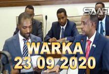 Photo of WARKA 23 09 2020 Xubnaha aqalka hoose ee baarlamaanka oo ansixiyey raisulwasaaraha cusub hortoodana lagu dhaariyey